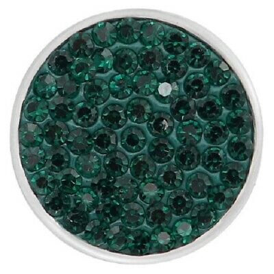 DARK GREEN RHINESTONE Snap Chunk 18-20mm Interchangeable Jewelry Fit Ginger Snap Dark Green Rhinestone