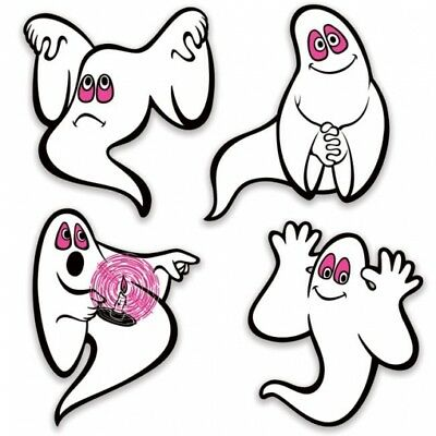 Vintage Halloween Ghosts Peel 'N Place Cutouts Halloween Party Decorations