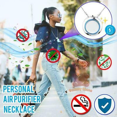 USB Mini Air Purifier Freshener Necklace Personal PM2.5 Lonizer Home Office