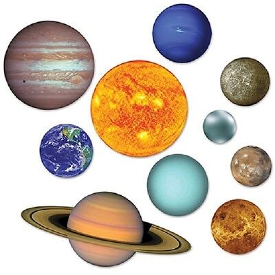 10 Solar System Cutouts Decorations Earth Sun Uranus Space Birthday Party Event