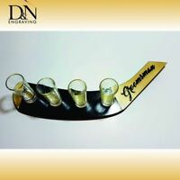 PERSONALIZED TEQUILA SHOT SET IN HOCKEY STICK SHAPE