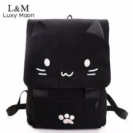 Cat Face Backpack for School/College