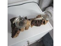 Driftwood & Shell Tealight Candle Holder BRAND NEW