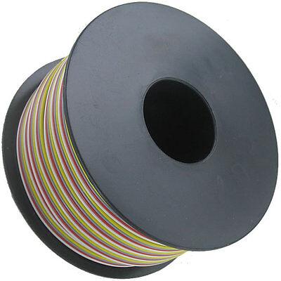 0,64€/m incl De Vers. 25m Litze 4x0,38mm² ws-rt-gr-gl flexibel RGB deutsche Ware
