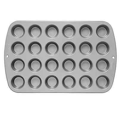 New Wilton Mini 24 Cupcake Pan Non Stick Cake Cookie Baking Tool Muffin Cupcakes