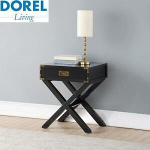 NEW DOREL LIVING PARKER NIGHTSTAND DA1526-7BKC 244821552 TABLE BLACK