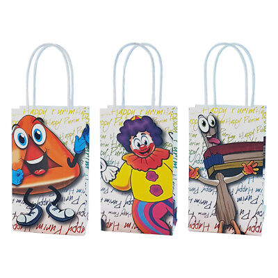 Happy Purim bags Pack of 6 paper bags for mishloach manot food bags for Purim