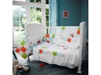 2-10 Pcs Baby Nursery Bedding Set 120x90//135x100//150x120 White Elephants on Grey