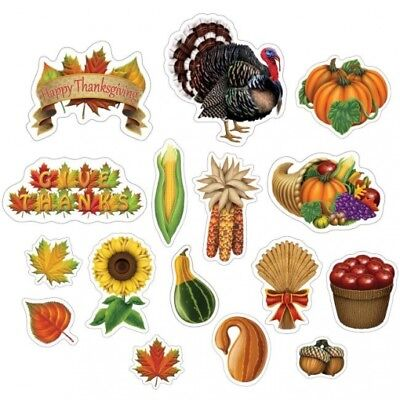 Thanksgiving Cutouts #2 Thanksgiving Party Wall Decor Decorations and Supplies](Thanksgiving Party Supplies)