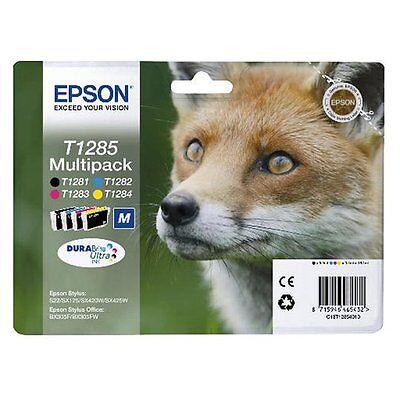Epson 4 Original TINTE PATRONEN T1281 T1282 T1283 T1284  DRUCKER PATRONE T1285