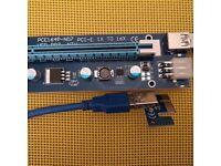 PCI-E extender PCI express riser card adapter for mining