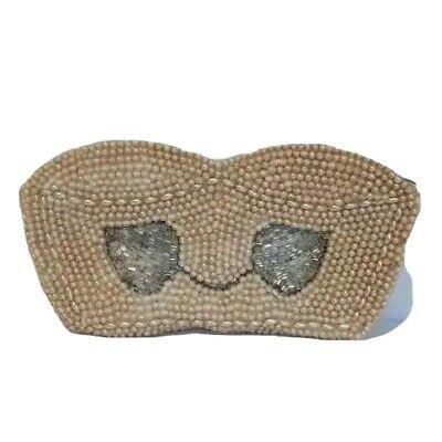 1950s Handbags, Purses, and Evening Bag Styles Vintage Du-Val beaded mini purse change purse, makeup bag 1950's $31.57 AT vintagedancer.com