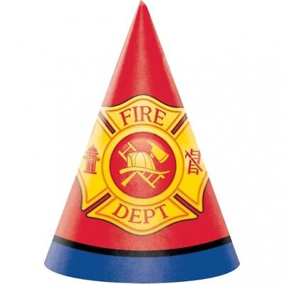 Flaming Fire Truck Child Size Hats 5 Per Pack Firefighter Birthday Party Favors