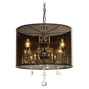 BRAND NEW Crystal and Chrome Chandelier Pendant Light Brookwater Ipswich City Preview