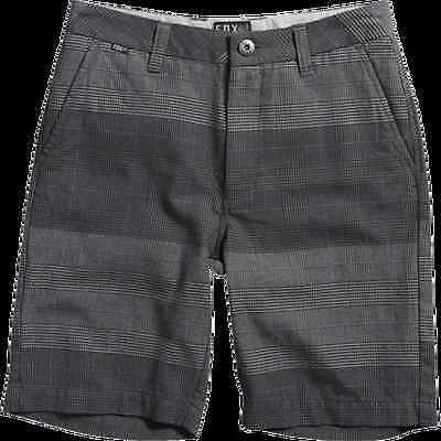 FOX Boys Essex Plaid Short - Black - Size 24