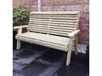 Wooden Garden Bench, 3 seater Bench, Wooden Garden Furniture.