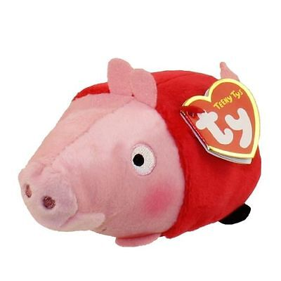 """Ty Beanie Boos 4"""" Teeny Tys Peppa Pig New w/ Heart Tags MWMT's Stackable Plush"""