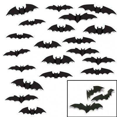 Flying Bat Silhouettes Assortment Cutout 20 Per Pack Halloween Party Decorations