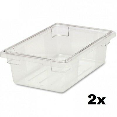 Rubbermaid Commercial FG330900CLR Food/Tote Box, 3.5 Gallon (Lid Not Included)