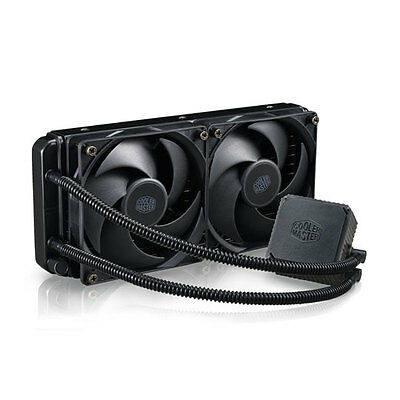 Cooler Master Seidon 240V V3 AIO Water Cooling Kit, Quiet, Compact 240mm PWM Fan