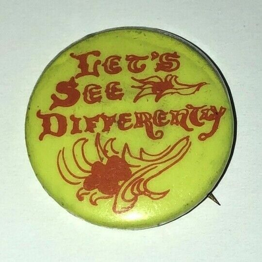 Timothy Leary 1963 See Differently LSD Pin Hippie Culture Acid Psychedelic Drugs