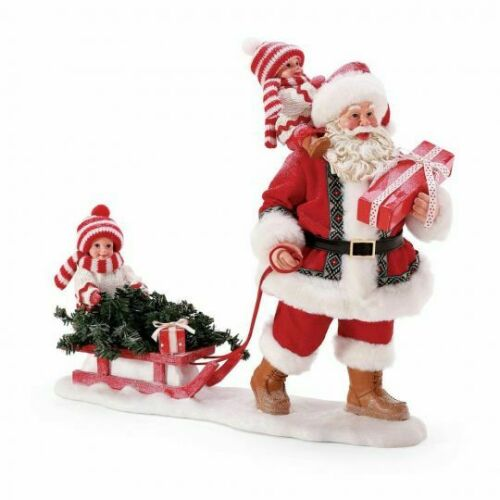 Dept 56 Possible Dreams LAUGHING ALL THE WAY! Santa Figurine 6008583 NEW 2021