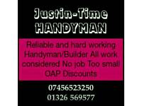 Handyman with over with years 20 years experience