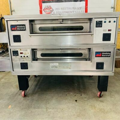 Middleby Marshall Ps570g Nat Gas Double Deck Conveyor Ovens Refurbished