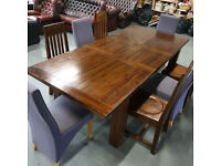 Beautiful large solid Harvey Norman table and 4 chairs + free delivery