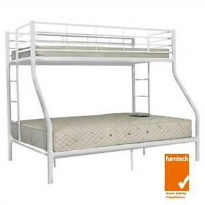 NEW BUNK BED  WHITE  DOUBLE BUNK SINGLE BUNKS  $300 Old Guildford Fairfield Area Preview