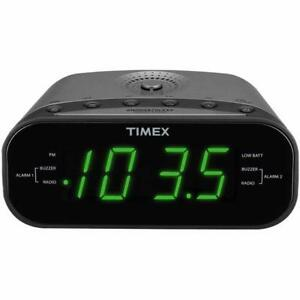 Timex T231G AM/FM Dual Alarm Clock Radio with Digital Tuning