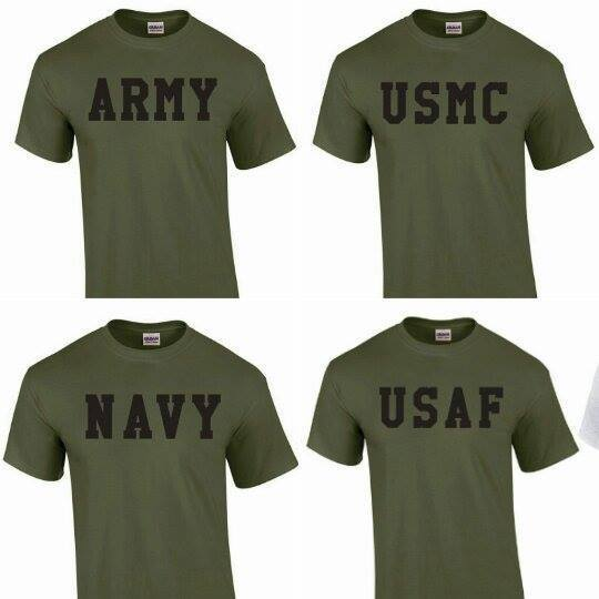 us army t-shirt Physical Training US Army, US Navy, Air Force USAF, USMC,NEW TEE