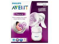 Philips AVENT Natural Comfort Manual Breast Pump & Bottle