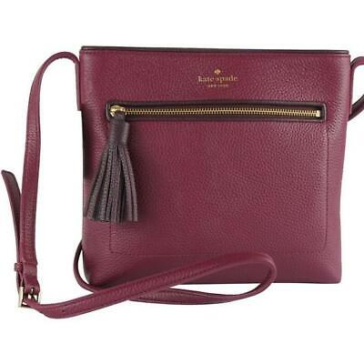 Kate Spade Chester Street Dessi Crossbody Purse Rioja Mahogany Pebbled Leather