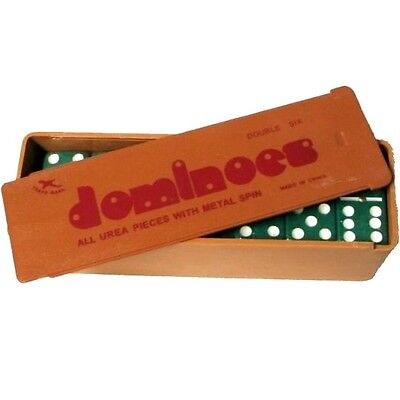 2 Sets Of Green Dominoes Game 28 Double Six Domino In Plastic Case