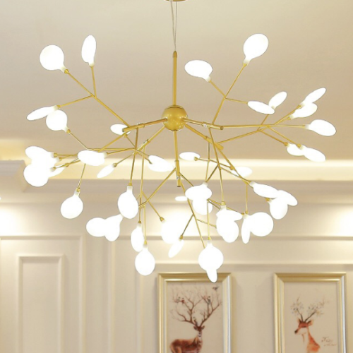 Details About 27 Led Firefly Chandeliers Sputnik Ceiling Fixture Branch Pendant Lighting Lamps