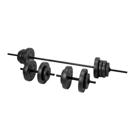 50kg brand new boxed dumbbell barbell gym weights set vinyl