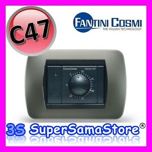 3s termostato ambiente da incasso c47 nero antracite for Fantini cosmi c48