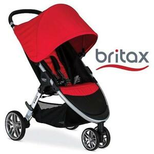 OB BRITAX  B-AGILE 3 STROLLER U781904 200694336 RED OPEN BOX