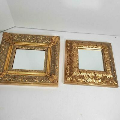 Two Gold Decorative Accent Mirrors  Ethan Allen
