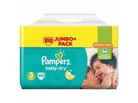 Pampers nappies size 3 × 100 Jumbo pack