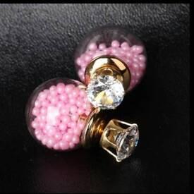 New Bauble back earrings