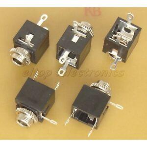 5x 3 5mm stereo socket panel mount connector js03 ebay