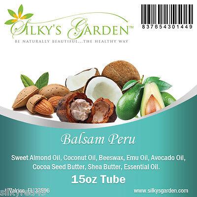 Shea Butter & Emu Oil Lip Balm - Balsam Peru - 4 Pack