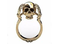 Skull and Bones Ring Gold Plating Unique Engraved Skull Jewelry **Brand New**