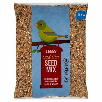 25kg Premium Wild Bird Food (All Season)Feed Mix Mixture Seed + 5 Free Feeders