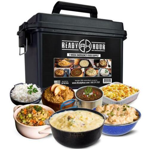 1-Week Emergency Food Supply Ammo Can – 42 Servings - By Ready Hour