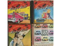 Rock and Roll CDs form 1959/61/62 and 60 Hits Compilation