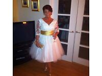 Formal bridal vridesmaid or evening dress