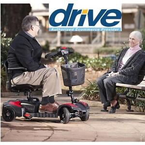 NEW DRIVE MEDICAL SCOUT SCOOTER SFSCOUT4 143444835 4 WHEEL POWER SCOOTER ELECTRIC WHEELCHAIR HEALTHCARE MOBILITY DEVICE
